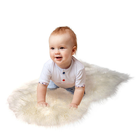 "Sheepskin Fur Rug 60x90Cm/24X35"" Super Soft"