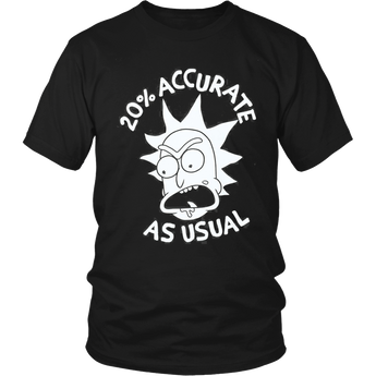 20% Accurate Usual Rick and Morty Shirt Hoodie