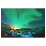 Alaska The Northern Lights Landscape Canvas Painting