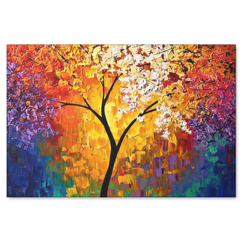 Tree of Life Abstract Landscape Canvas