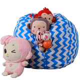 Kids Plush Toys Bean Bag Storage Organizer