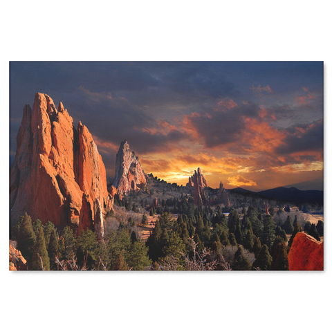 Colorado Garden of the Gods Canvas Painting