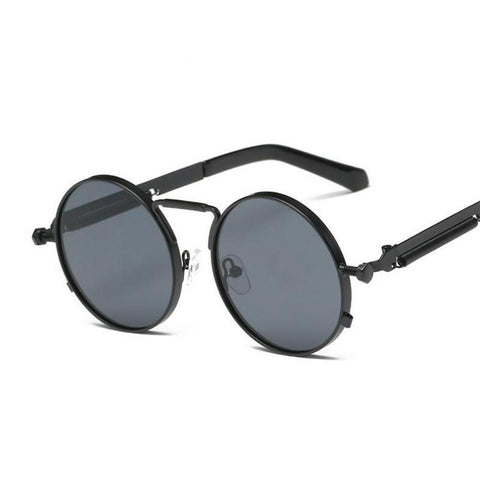 Steampunk Sunglasses Round Metal Retro Circle