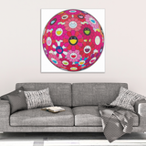 Takashi Murakami Flower Ball: Letter to Picasso Canvas Wrap