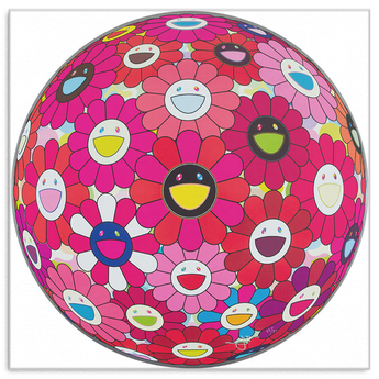 Takashi Murakami Art Flower Ball: Letter to Picasso Canvas Wrap