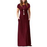 Floor Length Maxi Dress With Pockets
