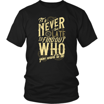 Never Too Late Steampunk Unisex Shirt Hoodie