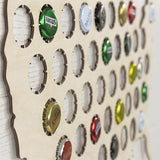 Beer Cap Map wall art