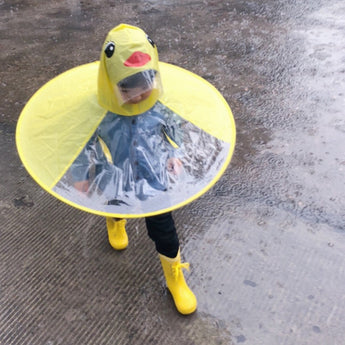 UFO Duck Raincoat Umbrella