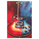 Les Paul Guitar Abstract Painting Canvas
