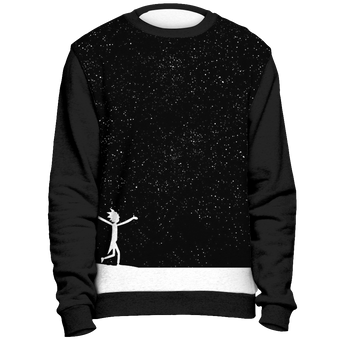 Rick and Morty Sweatshirt Star Viewing All Over Print