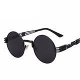 Gothic Steampunk Sunglasses Round Shades