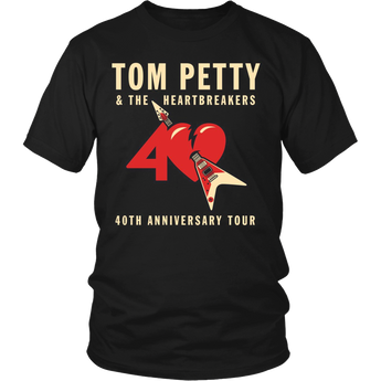 Tom Petty & The Heartbreakers 40TH Anniversary Tour Shirt