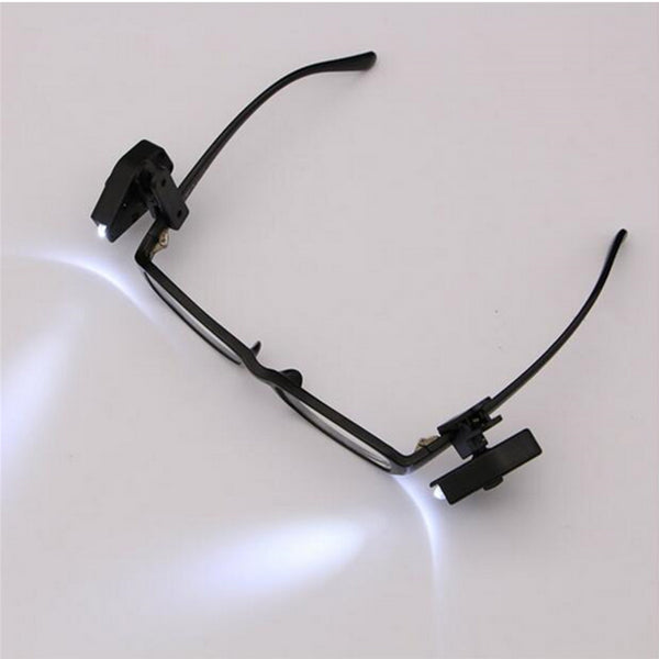 2pcs Flexible Book Reading Lights For Eyeglass Clip On Universal Portable