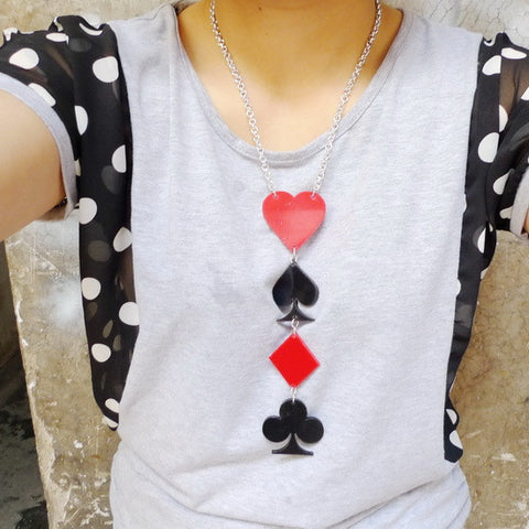 Poker Necklace Pendant