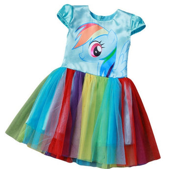 My Little Pony Kids 4-10 Years Costume Halloween Fancy Dress