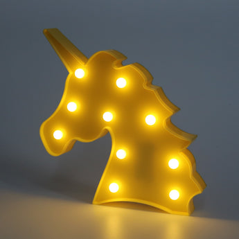 Cute Unicorn Head Led Lamp