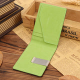 Leather Stainless Steel Money Clip Holder Slim Wallets