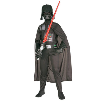 Child 4-10 Years Star Wars The Force Awakens Villain Character Darth Vader Halloween Cosplay Costumes