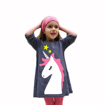 Unicorn Girls Dress 2-5 years