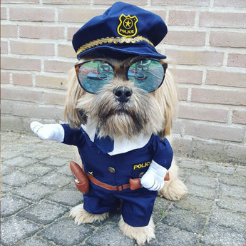 Policeman Dog Pet Halloween Costume