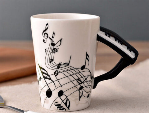 Music Note Piano Ceramic Music Cup