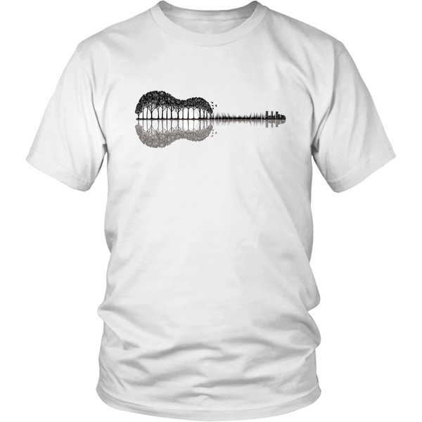 Guitar Lake Shadow Unisex Music Shirt