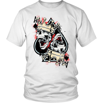Poker Shirt Skull And Crown Ace of Spades Unisex