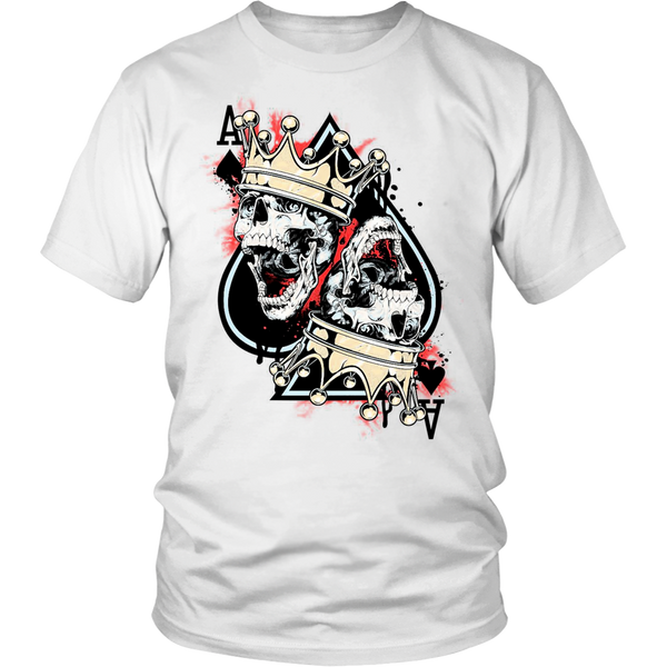 Skull And Crown Ace of Spades Unisex Poker Shirt