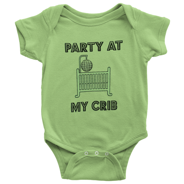 Party At My Crib Baby Bodysuit