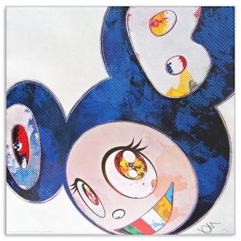 Takashi Murakami Art And then x6 (Blue: The Superflat method) Canvas Wrap