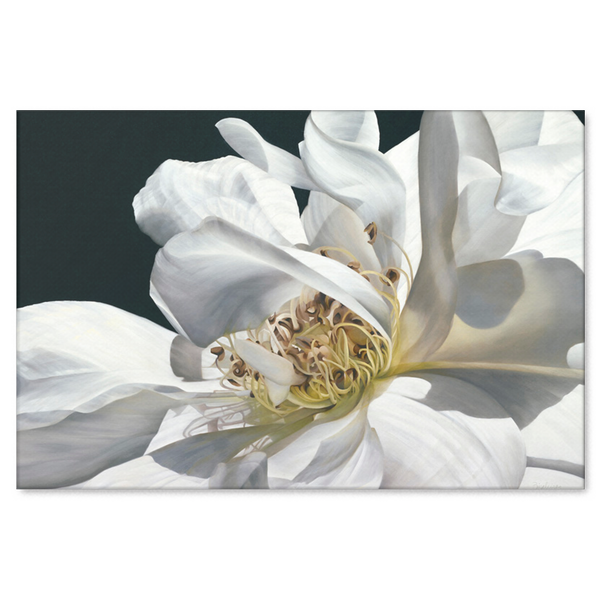 White Flower Canvas Painting