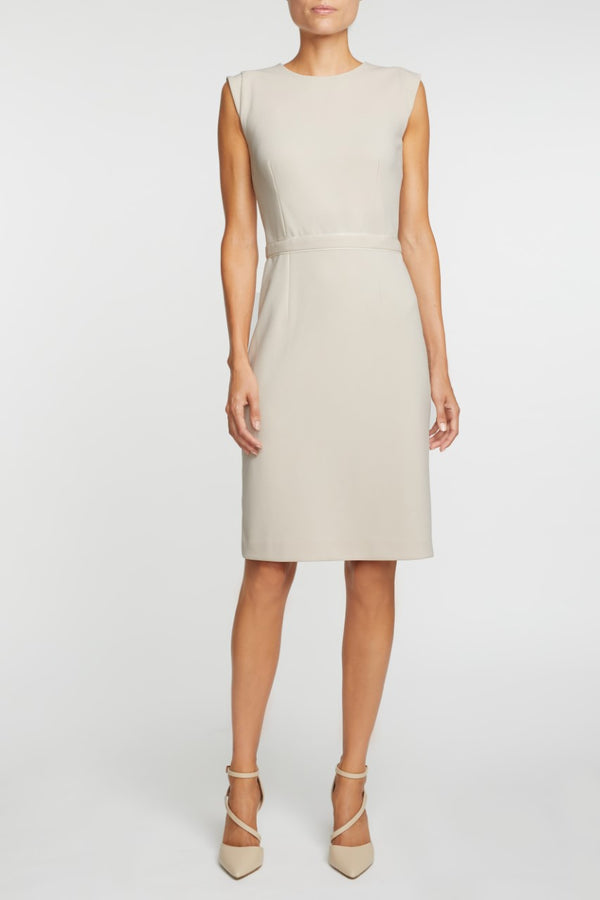 The Alicia Mondrian Dress - Cream