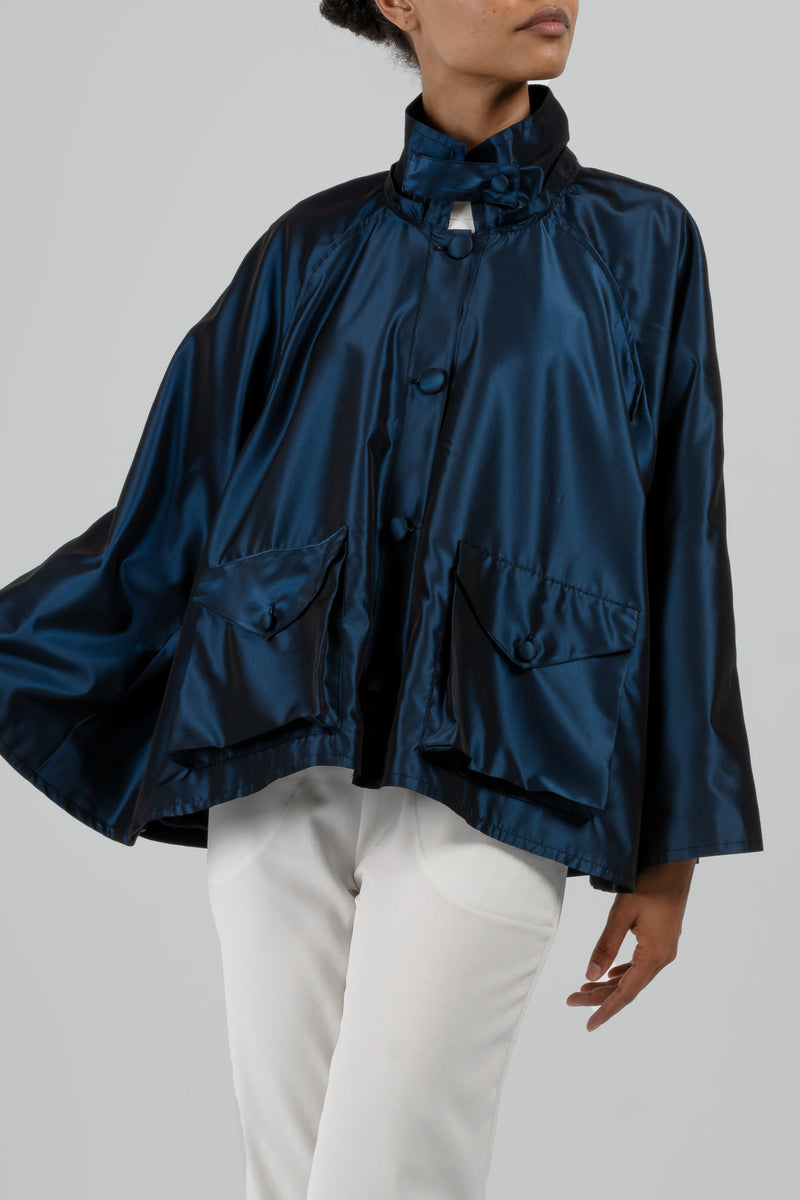 The Audrey Deco Cape - Blue