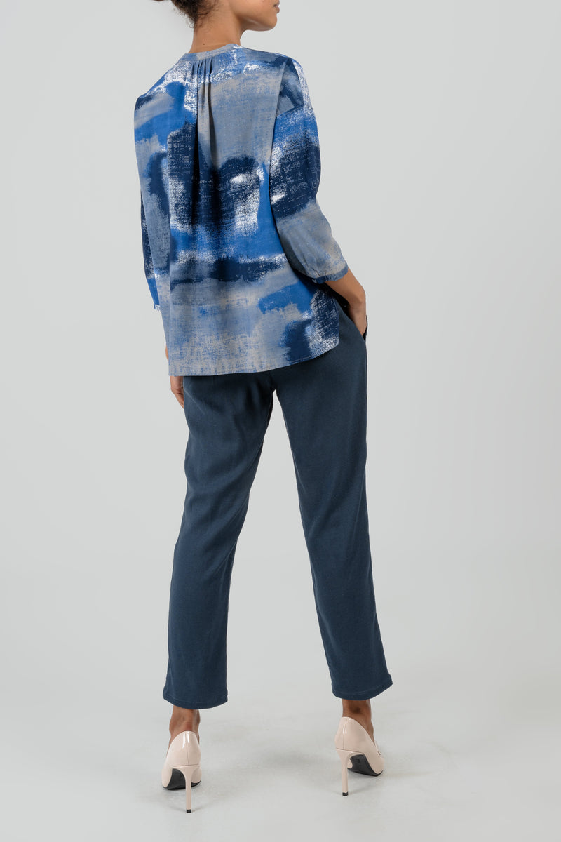The Anna Blouse - Blue