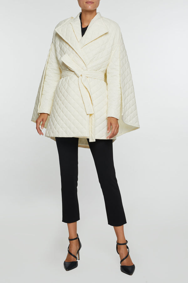 The Rachel- Waterproof Down White Cape