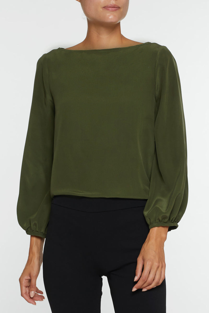 The Meredith Blouse - Green