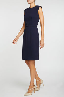 The Alicia Mondrian Dress - Blue Navy