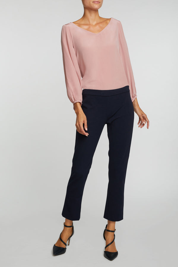 The Meredith Blouse - Rose