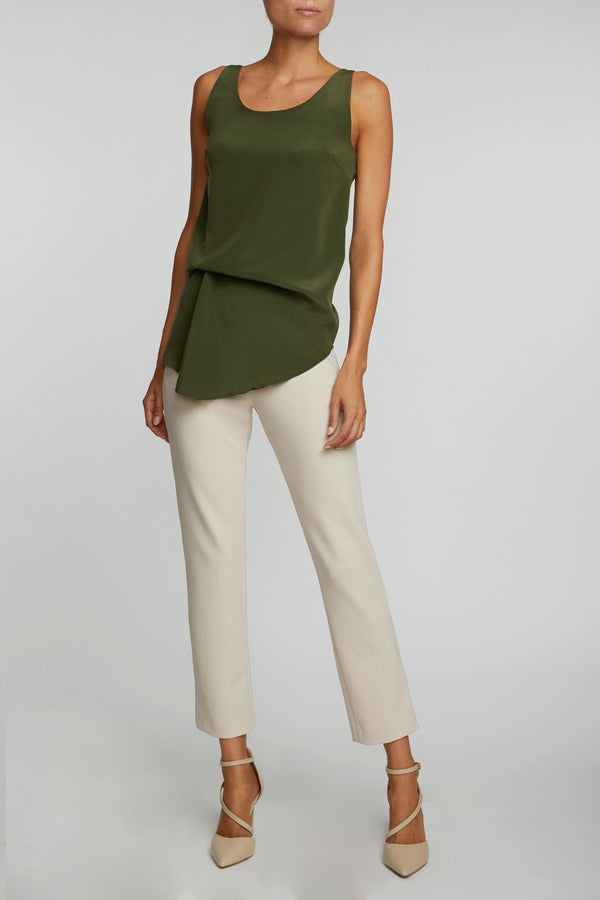 The Luzzara Top - Olive Green