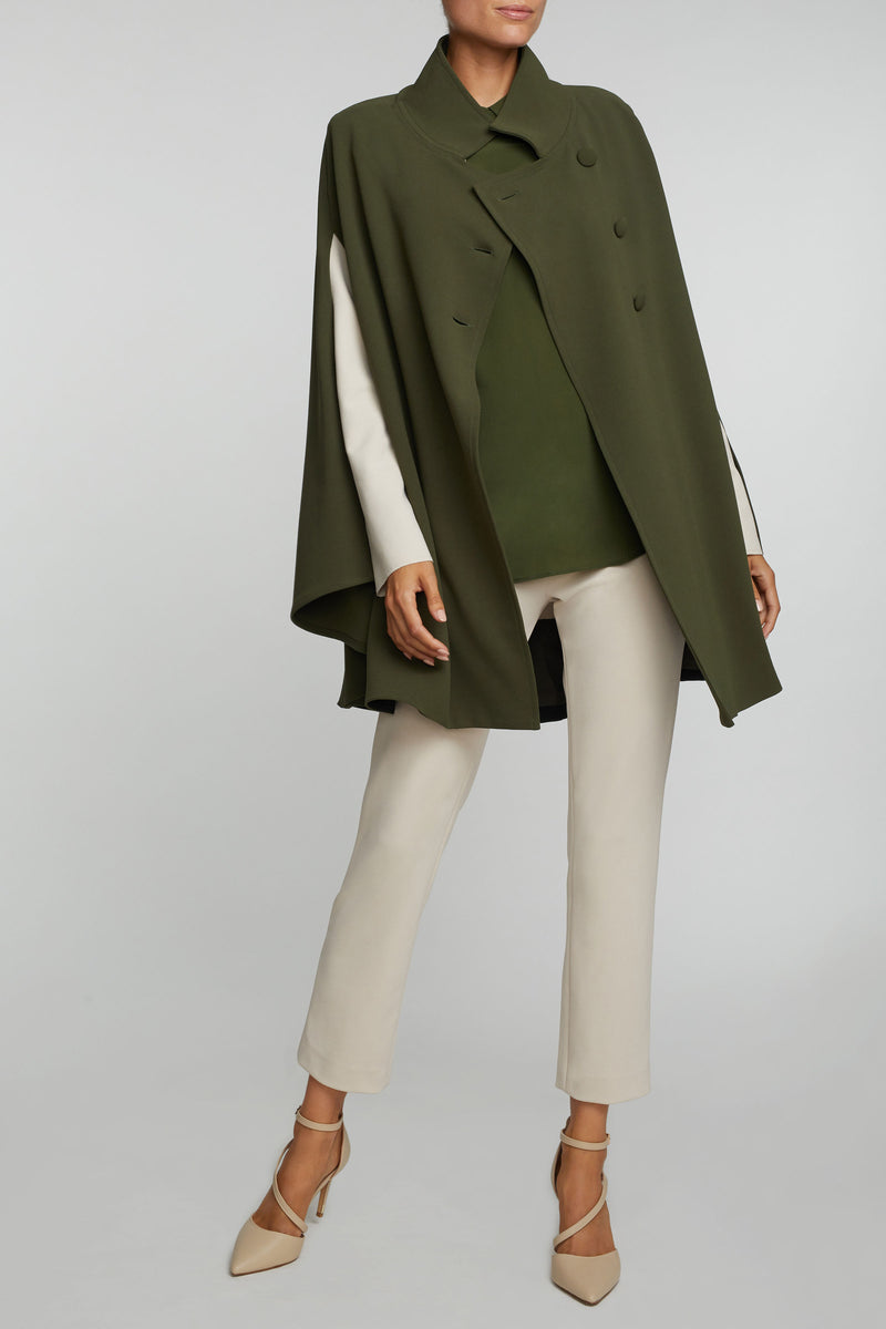 The Carlotta Blouse- Olive Green