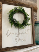 Home sweet home with wreath