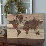 World Map - hand engraved