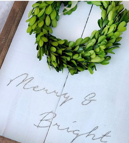 Merry and Bright with Boxwood