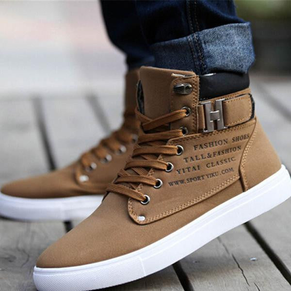 Retro Style Men's Casual Lace Up Shoes