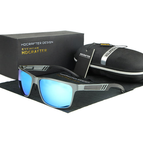 526ecd872a2 New Metal Frame Rectangle Goggle Driving Sunglasses