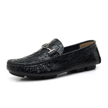 Big Size Alligator Men's Breathable Leather Loafers