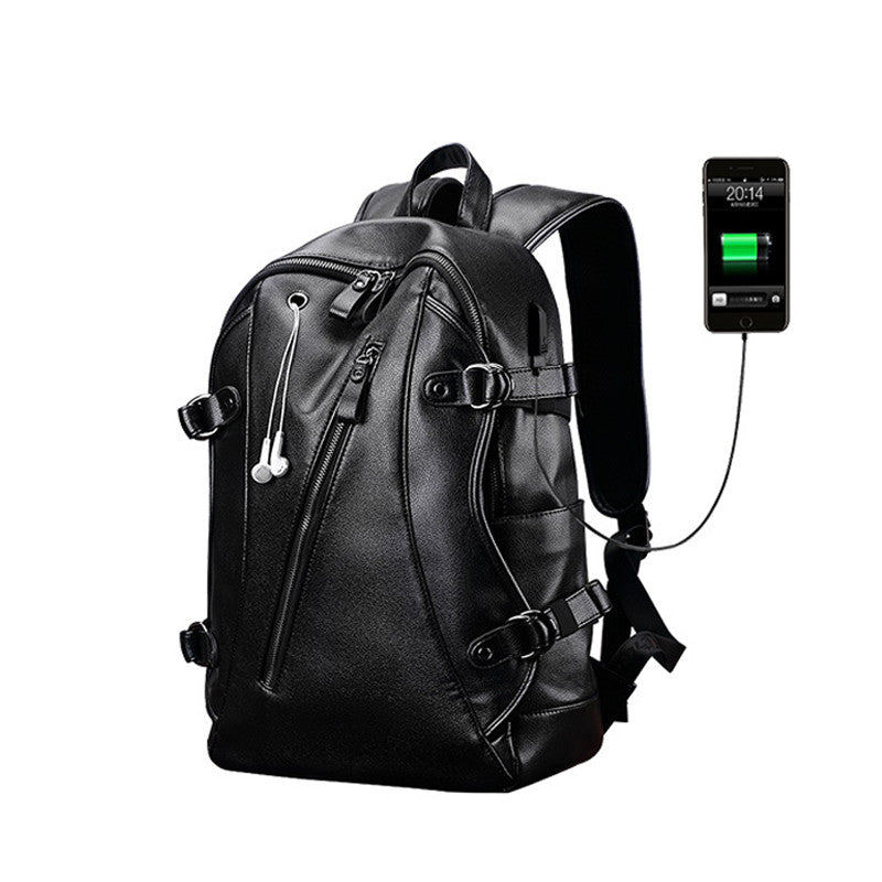 External USB Charge Men's Anti-Theft 15.6 Inch Waterproof Laptop Backpack