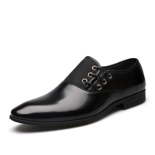 Fashion Men Oxford Lace-Up Design Leather Dress Shoes