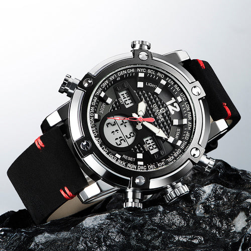 Dual Time Men Digital  Watches